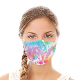 Rainbow Tie Dye Reusable Cloth Face Mask