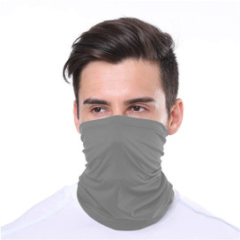 Gray Wrap-Around Face Covering Neck Gaiter
