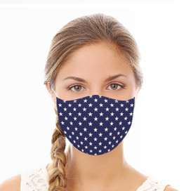 Blue Stars Reusable Cloth Face Mask