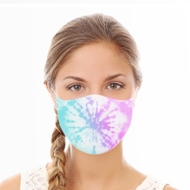 Pink and Aqua Tie Dye Reusable Cloth Face Mask