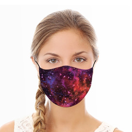 Galaxy Red Reusable Cloth Face Mask