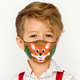 Fox Reusable Cloth *Children's Size* Kids Face Mask