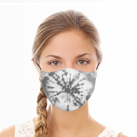 Gray Tie Dye Reusable Cloth Face Mask