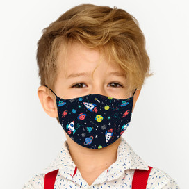 Space Reusable Cloth *Children's Size* Kids Face Mask