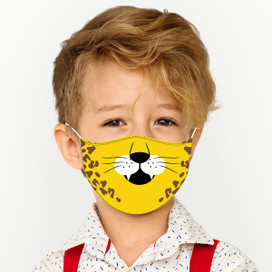 Cheetah Reusable Cloth *Children's Size* Kids Face Mask