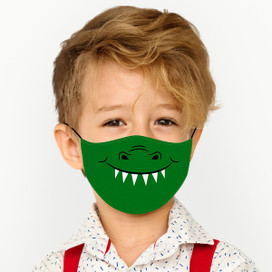 Smiling Dinosaur Reusable Cloth *Children's Size* Kids Face Mask