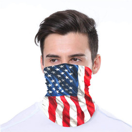 American Flag Wrap-Around Face Covering Neck Gaiter