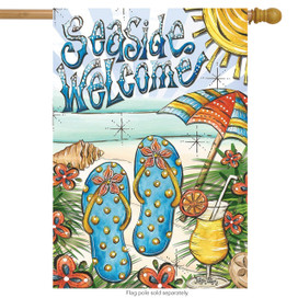Seaside Welcome Beach Summer House Flag