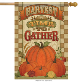 A Time To Gather Fall House Flag