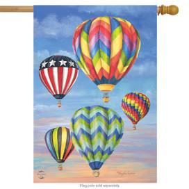 Hot Air Balloons Summer House Flag