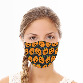 Jack O'Lanterns Reusable Cloth Face Mask