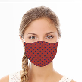 Red Stars Reusable Cloth Face Mask