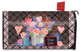 Flowers and Hearts Valentine's Day Mailbox Cover