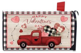 Valentine's Love Pickup Primitive Large Mailbox Cover