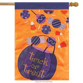 Halloween Candy Applique House Flag