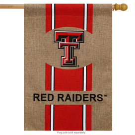 Texas Tech Red Raiders Licensed NCAA Burlap House Flag