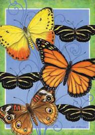 Butterflies Flight Spring House Flag