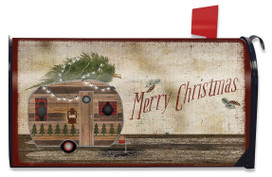 Mery Christms Camper Magnetic Mailbox Cover