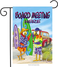Board Meeting Summer Garden Flag