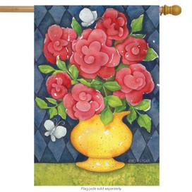 Fresh Bouquet Spring House Flag