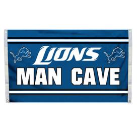 Detroit Lions Man Cave Grommet Flag