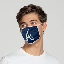 Atlanta Braves Solid Big Logo Face Mask