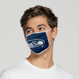 Seattle Seahawks Solid Big Logo Face Mask