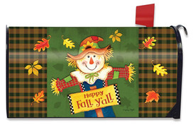 Fall Y'all Scarecrow Primitive Magnetic Mailbox Cover