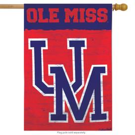 "University of Mississippi ""Ole Miss"" Vertical Flag"