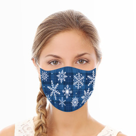 Snowflakes Reusable Cloth Face Mask