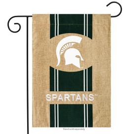 Michigan State Spartans NCAA Burlap Garden Flag