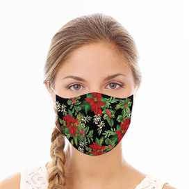 Holiday Floral Reusable Cloth Face Mask