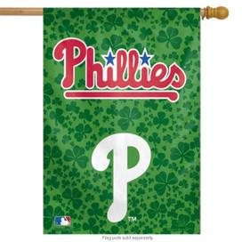 Philadelphia Phillies Shamrock Decorative MLB Vertical House Flag
