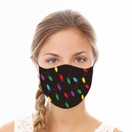 Holiday Lights Reusable Cloth Face Mask