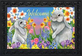 Spring Friends Bunnies Doormat