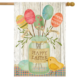 Spring Egg Bouquet Easter House Flag