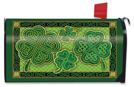 Celtic Shamrocks St. Patrick's Day Mailbox Cover