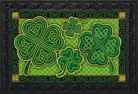 Celtic Shamrocks St. Patrick's Day Doormat