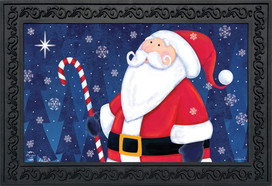 North Star Santa Christmas Doormat