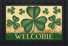 Shamrock Welcome St. Patrick's Day Doormat