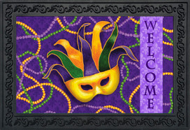 Mardi Gras Holiday Doormat