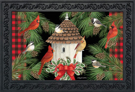 Holiday Bird Gathering Doormat