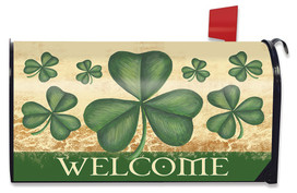 Shamrock Welcome St. Patrick's Day Mailbox Cover