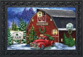 Christmas Tree Farm Pickup Doormat