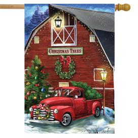 Christmas Tree Farm Pickup House Flag