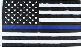 Thin Blue Line Police Grommet Flag