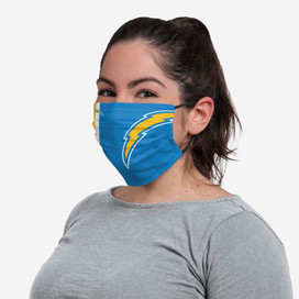 Los Angeles Chargers On-Field Sideline Big Logo Face Mask