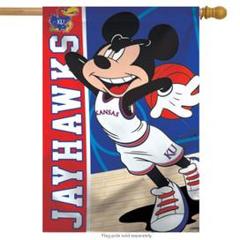 University of Kansas Jayhawks NCAA Mickey Mouse House Flag