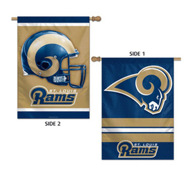 Los Angeles Rams 2 Sided NFL Vertical House Flag