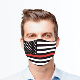 Thin Red Line Reusable Cloth Face Mask